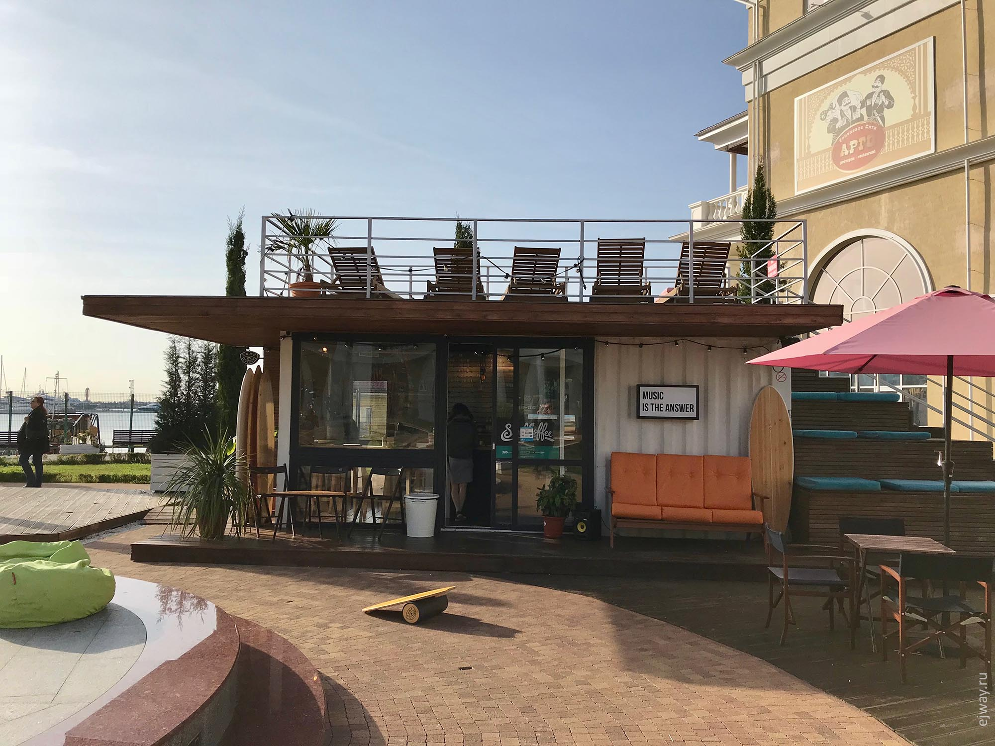 Сочи, SurfCoffee Grand Marina, ejway.ru, surf cafe